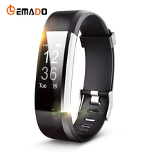 Lemado ID115HR Plus Smart Wrist Band Heart Rate Monitor Sleep Fitness tracker Smartband Bracelet Wristband for IOS Android Phone(China)