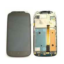 Black Touch Screen Glass Sensor Digitizer + LCD Display Panel Screen Monitor Assembly + Frame For HTC One S Z520e
