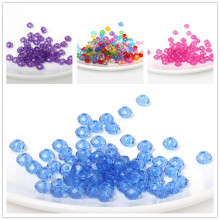 Wholesale 8mm 100pcs Rondelle Round Spacer Faceted Beads Acrylic beads For Jewelry Making DIY Bracelets