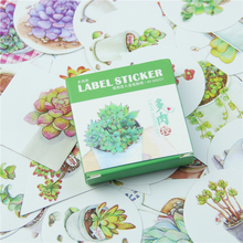 40 Pcs/lot Succulent Mini Lable Sticker Set Decoration Diy Diary Memo Pad Scrapbooking Sealing Sticker Kawaii Stationery