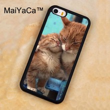 MaiYaCa Cat Kittens Cute Ginger Printed Soft Rubber Mobile Phone Cases For iPhone 5 5S Back Cover For iphone SE Shell Cover(China)