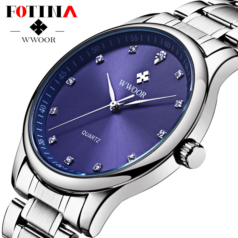 FOTINA Luxury Brand Men Watch Waterproof Casual Quartz Watches Diamonds Hour Stainless Steel Business Watch Male Relogio<br><br>Aliexpress