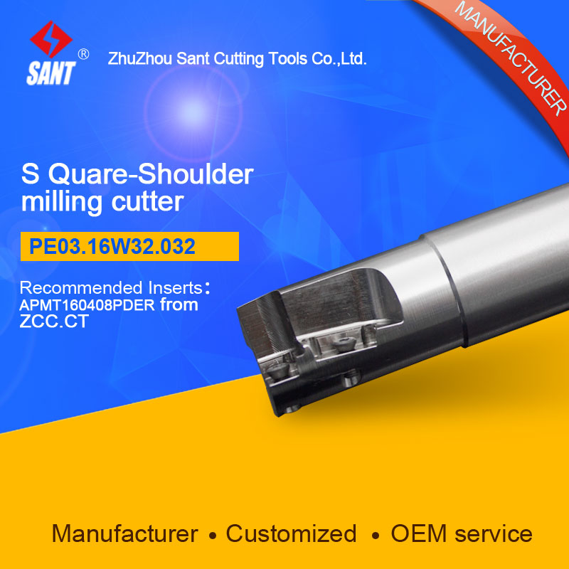 Suggested EMP05-032-XP32 Indexable Milling cutter SANT PE03.16W32.032 with APKT11T3 carbide insert<br>