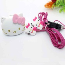 Fashion Mini Hello Kitty MP3 Music Player Support TF Card Mini Clip MP3 Player+Hello Kitty Earphone+Mini USB(China)