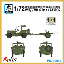 RealTS S-model 1/72 PS720047 Willys MB & M3A1 AT GUN plastic model kit