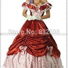 Natural Floor-length Ball Gown Lace Shipping Colonial Civil War Scarlett southern  Belle Lolita c67824bd2b2e