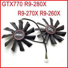 2pcs/lot POWER LOGIC PLD10010S12HH 12V 0.40A 94mm For MSI R9-290X R9-280X R9-270X R7-260X Twin Frozr Graphics Card Fan