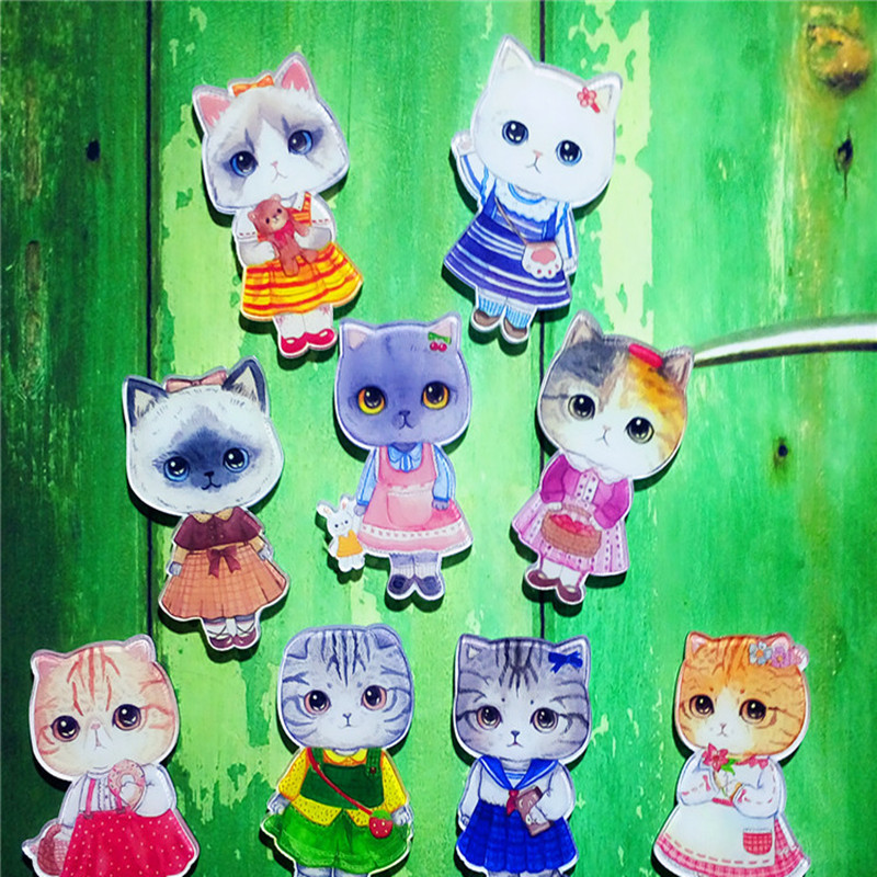 1PCS-Fashion-Kawaii-Anime-Cat-Acrylic-Badges-Pins-for-Clothes-icon-Decorating-Badge-Backpack-Gift