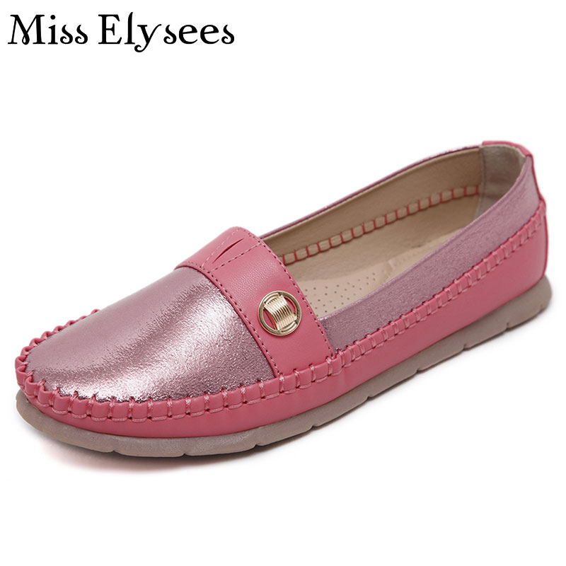 Supper Soft Slip on Ladies Shoes Flat 2017 Spring Summer Women Ballet Flats Round Toe Casual Boat Shoes Loafers Zapatos Mujer<br><br>Aliexpress