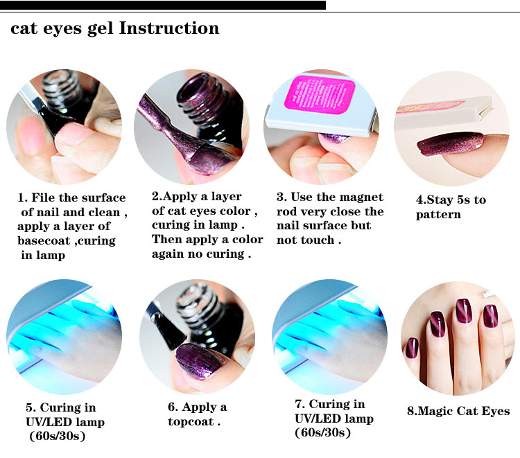 Perfect for Summer 3D Cat Eyes Gel Polish