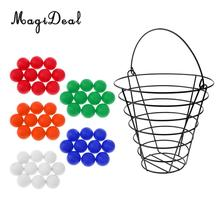 MagiDeal 50 Pieces PU Foam Golf Soft Ball Golf Practice Balls with Range Bucket(China)