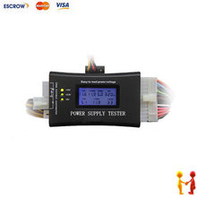 Multifunctional Digital LCD PC Computer Power Supply Tester ATX/BTX/ITX/TFX 20 24 PIN 4 SATA HDD Testers