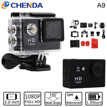 Action Camera EKEN A9 1080P 140D Full HD 2'' Waterproof Outdoor Mini Cam 1920*1080 go Sport Video pro Camera gopro hero 3 style
