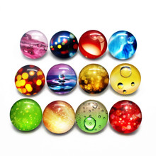 Newest 12pcs/lot 18mm substitutable Glass special effects water drop Snap Buttons Charms Fit Snap Bracelet/Pendant DIY Jewelry(China)