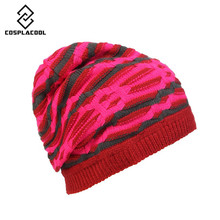 [COSPLACOOL]  Lining fleece cap knitting hat Hat pile pile cap fashion snowboard winter hat woolen caps