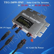 High Quality 260W Grid Tie Micro Inverter for Solar Panels, Waterproof IP65 Inverter with Monitoring Function DC 22V-50V Input