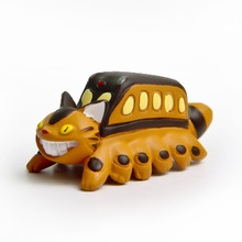 1pc 3.8cm Funny Miyazaki Hayao Anime Totoro Cat Bus Figures Toys Action Figure Collection Model Toy Micro Landscape for Garden