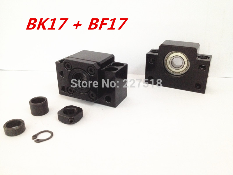 BK17 BF17 Set :1pc BK17 and 1pc BF17 Ball Screw SFU2505 SFU2005 SFU2510 support<br>