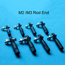 10PCS Plastic M2 M3 Rod End / Ball End / Ball Joint with Screw for RC Boat Airplane RC Car Truck Buggy Crawler