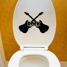 Music Rock Guitar Fashion Home Decor Wall Decals Toilet Stickers Vinyl 6WS0302