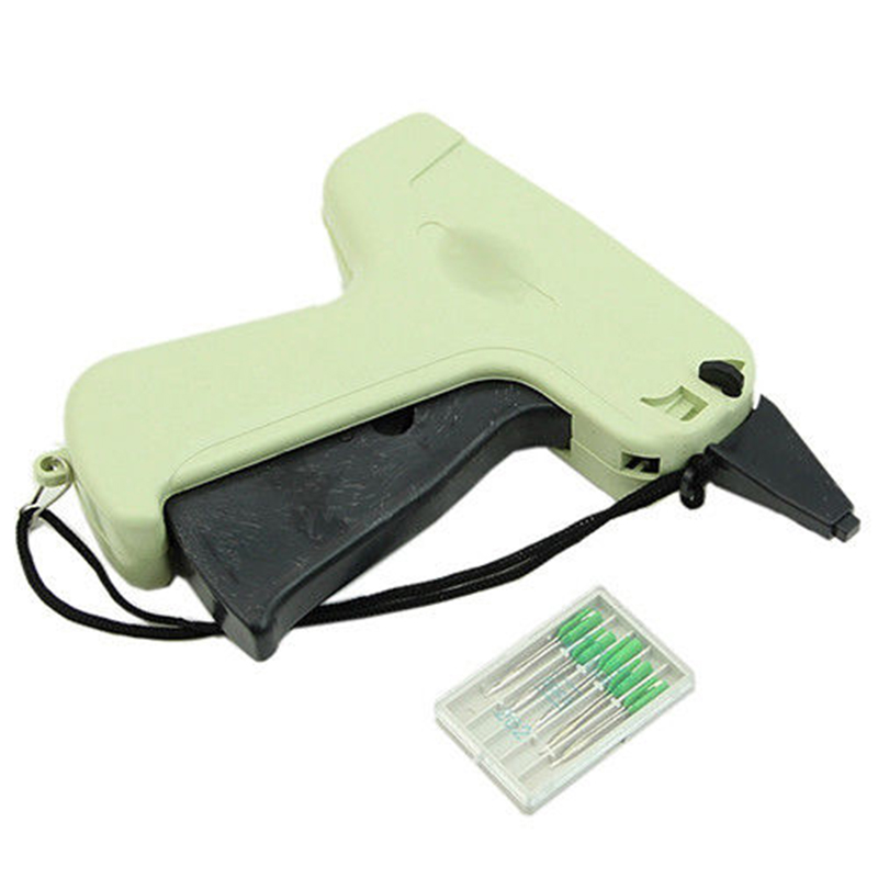Clothes Garment Price Label Tagging Machine + 1000 Plastic Tag Pins + 5 Needles Fast Labeling Price Tagging Gun