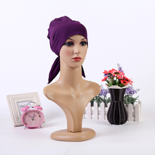 2017 New Arrival Simple style Polyester Muslim Headscarf Soft Head Wrap Hijab/Scarf/Cap for Islamic Women and Girl 10 Colors(China)