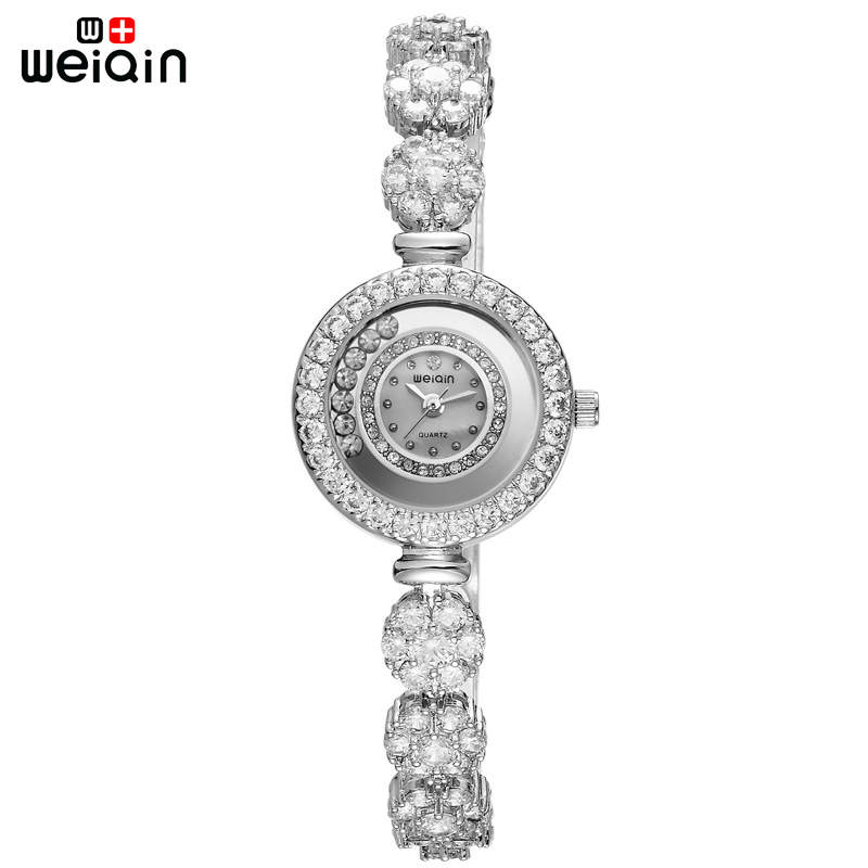 WEIQIN Fashion Crystal Diamond Women Quartz-watches Travel Leisure Flower Jewelry Bracelet Woman Wristwatch Relojes Mujer 2018<br>