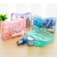 Organizer 5pcs/lot Best Selling Transparent Travel Waterproof Pvc Cosmetic Cases Mixed Color Wash Bath Things Storage Bags Wz053