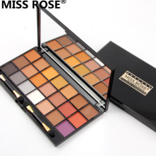 free shipping miss rose 21 Colors smoky Nude matte new shimmer eyeshadow palette for eye shadow sombra Set with brush paleta(China)