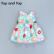 2017 High quality New children girls Cartoons graffiti printing vest pretty dresses girl tutu dress