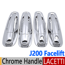 Chrome Door Handle Covers For Chevrolet Lacetti Optra Daewoo Nubira Suzuki Forenza Holden Viva J200 Facelift Car Styling(China)