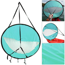 "Lightweight 42"" Kayak Rowing Boat Foldable Wind Sail Canoe Sup Durable Paddle Board with Clear Window Drifting Boating Accessory(China)"
