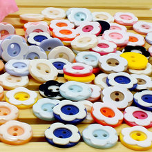 50Pcs Children's Buttons Colorful Baby Sweater Hand Sewing Plastic Plum Model Buttons DIY Patchwork Handmade Accessories(China)