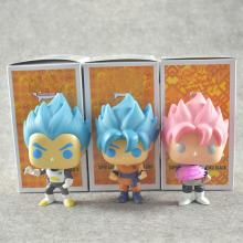 2018 Dragon Ball Toy Son Goku Action Figure Anime Super Vegeta POP Model Doll Pvc Collection Toys For Children Christmas Gifts(China)