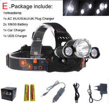 VICMAX 8000 Lumen T6R5 Head Light Headlamp Outdoor Head Lamp HeadLight Rechargeable + 2* 18650 Battery/Charger/Car USB Charger(China)