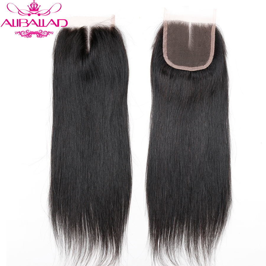 Aliballad Brazilian Straight Middle Part 4x4 Lace Closure 10-20 Inch Non-Remy Hair Natural Color 100% Human Hair Free Shipping8