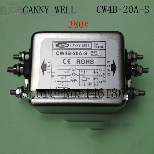 CW4B-20A-S power supply filter Strong filter, three-phase three wire 380V 20A  Electrical Equipment<br>