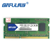Binful Original New Brand DDR3 PC3-10600 1GB 1333mhz for laptop RAM Memory 204pin for Notebook Free Shipping lifetime warranty