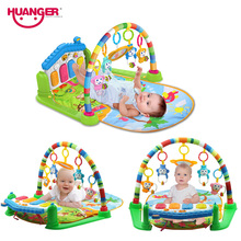 Play Mat Baby Piano Fitness Rack With Music Rattle Gym Educational Toys(China)