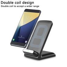 UVR wireless charger QC2.0 fast charging mobile phone holder stand dock charger for samsung s8 iphone x 8 quick charge(China)
