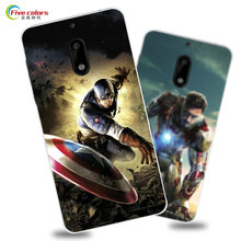 case for nokia 6 cover 5.5 inch phone case hard plastic cover for nokia 6 phone case cute cartoon paint cover android 2017 case