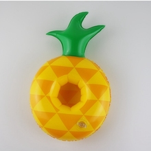 5Pcs Float Water Inflatable Drink Cup Fruits pineapple Swimming Pool Bathing Beach Party Kids Bath Swim Floats Decorations Toy