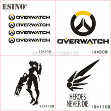 New Design OW Overwatch Series Creative Auto Decal Cartoon Car Handle Sticker Car Bumper Body Decal Creative Pattern Vinyl