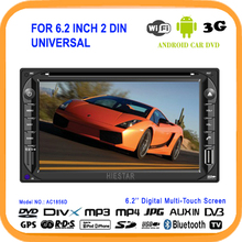 Double Din 2 Din Universe 6.2'' HD Touch Screen Car GPS navi Android 5.1 cd dvd player Radio FM WIFI Smart PC Quad Band TV RDS