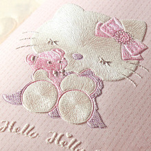 Children's Room Wallpaper For Walls 3 D Stereo Embossed Cartoon Cat Non-woven Wallpaper Cute Baby Room Girl Bedroom Wall Paper(China)