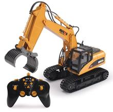 RC Car 2.4G 1/12 RC Excavator 16 Channels Metal Charging RC Car Model Toys Grabbing Machine Auto Demonstration Cars 570(China)