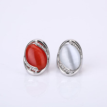 Retro Large Red Natural Stone Party Rings Vintage Unique Opal Rings Women's Accessories Jewelry Female Retro Boho Wedding Rings