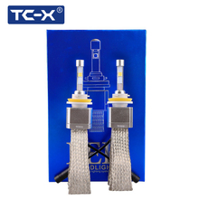 TC-X Super Bright 8000LM Car LED Headlights H7 H11 9005 HB3 9006 HB4 forLens Replacement with Quick Heat Sink(China)