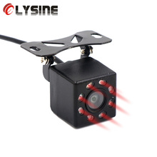 Olysine 8 LED IR Night Vision Backup Parking Camera Waterproof Car Rear View Camera Universal Wide Angle Rearview Auto Cameras(China)