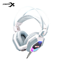 Xiberia V6 Gaming Headsets with Microphone Surround Sound Game Headphones Earphones Glowing LED Light USB for PC Computer Skype